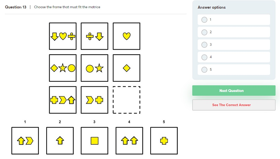 P&G abstract reasoning tests