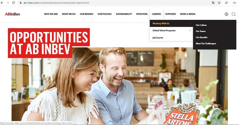 abinbev career website vacancies