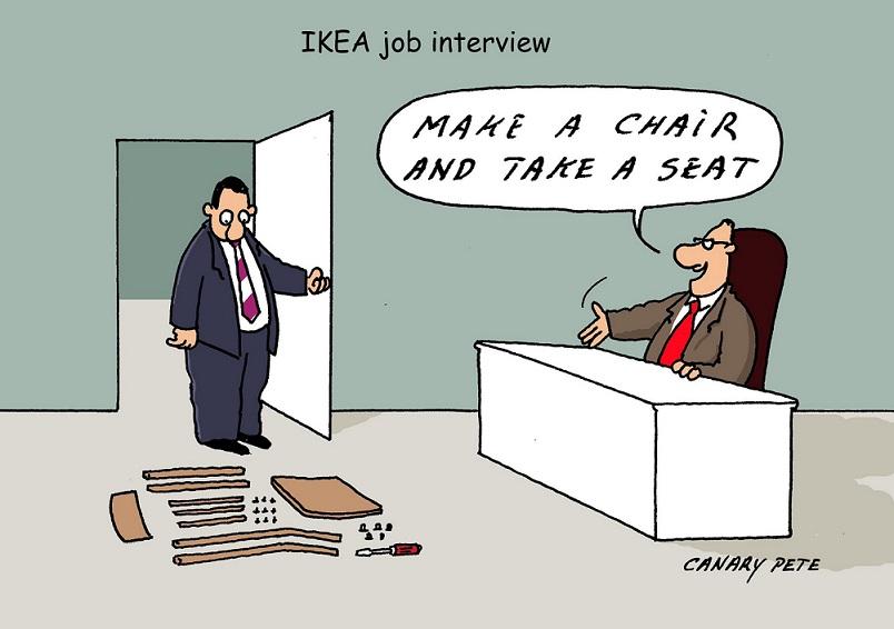 ikea interview cartoon