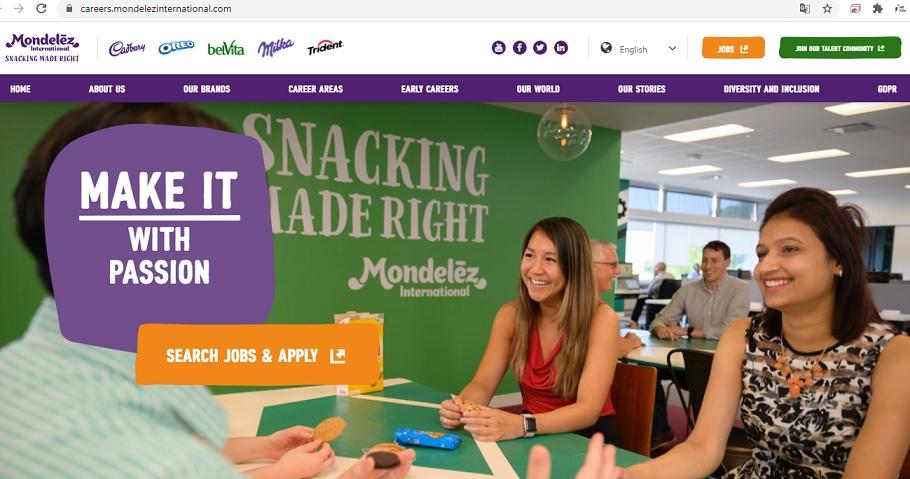 mondelez careers website