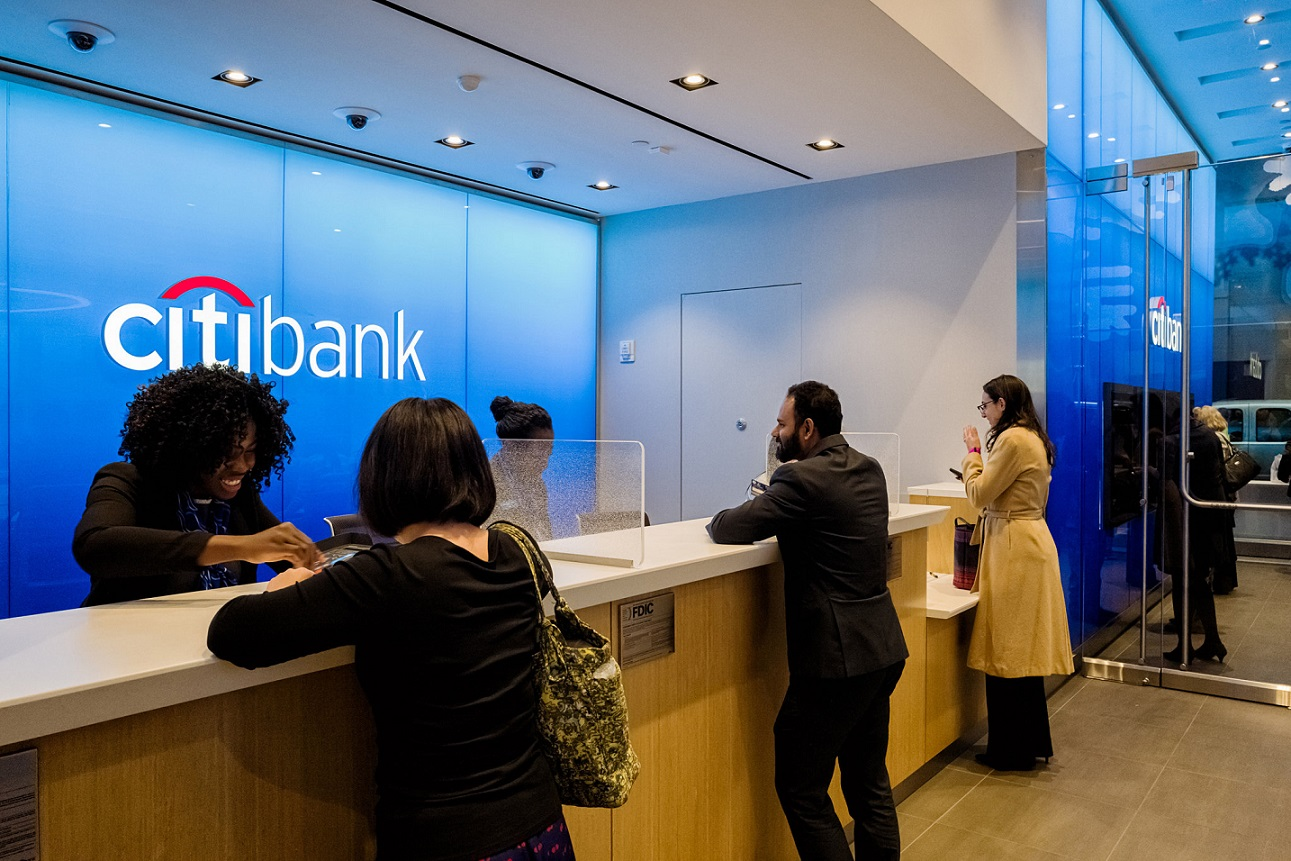 citibank working in an office