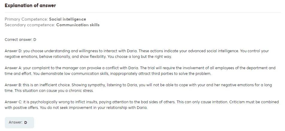 situational judgement test for emotional intelligence 2